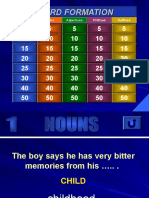 Jeopardy Word Formation