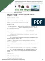 Política Em Tinguá_ PROJETO de LEI ; Áreas de Especial Interesse Turístico – AEIT