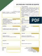 Perfil del puesto - Jefe de Procura y Gestión de Equipos