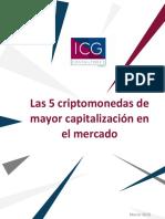 5 Criptomonedas Con Mayor Capitalizacion en El Mercado