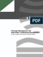 Strategic Manag Uni Institutional Development