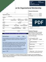 2018 Application for Organizational Membership