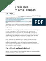 Cara Menulis Dan Mengirim Email Dengan Gmail
