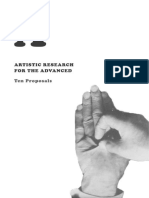 Artistic Research for the Advanced - Ten proposals