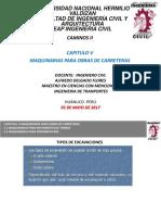 CLASE 05 MAQUINARIAS OBRAS DE CARRETERAS.pptx