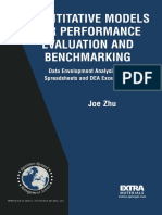 Quantitative Models for Performance Evaluation and Benchmarking- Data Envelopment Analysis With Spreadsheets