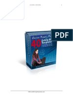 40 Plus Article Templates