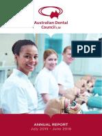 Aust Dental Council Annual Report 2016