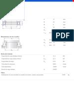 Rodamientos Axiales de Bolas de Simple Efecto-51103