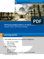 0302 Using SAP BusinessObjects Business Intelligence (BI) 4.1 on SAP HANA