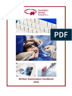 Written Examination Handbook Dentist 2018