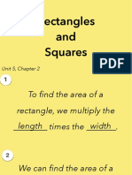 5.2a Rectangles and Squares
