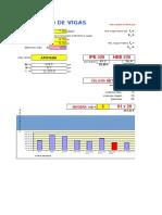 esquema muestra diseño de vigas