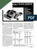 Home Brewing a 10 GHz SSB-CW Transverter