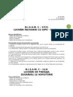 N.I.S.S.M. C-17(6) Gipscarton&Finisaje Zugr-âveli