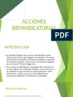 ACCIONES REIVINDICATORIAS