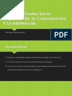 Modelos Y Teorías Socio-Cognitivas de La Comunicación