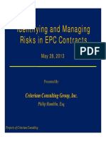 Identifying and Managing Risks in EPC Contracts - CRITERIUM CONSULTING GROUP