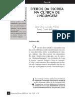 Efeitos Da Escrita Na Clínica de Linguagem
