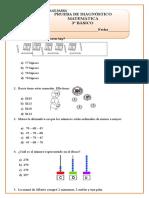 Prueba Diagnostico Matematica 3º