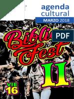 Agenda Cultural Marzo 2018
