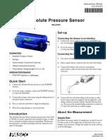 PASPORT Absolute Pressure Sensor Manual PS 2107