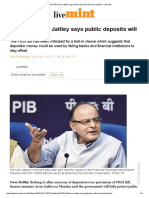 FRDI Bill_ Arun Jaitley Says Public Deposits Will Be Protected - Livemint
