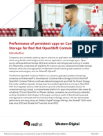 Performance of persistent apps on Container-Native Storage for Red Hat OpenShift Container Platform