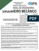 2018 UFG-SANEAGO Engenheiro Mecanico PROVA