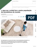O que faz o Brasil ter a maior população de domésticas do mundo - BBC Brasil