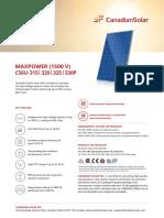 Canadian Solar Datasheet MaxPower CS6U P 1500V v5.52en