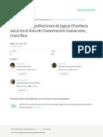 Estimacion de Poblaciones de Jaguar Panthera Onca