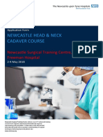 Application Form Head and Neck Course
