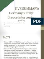 36. Germany v Italy (Greece Intervening)