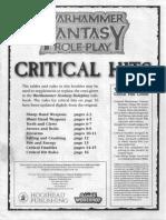 Advanced Critical Hits (WFRP 1)