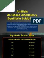 Aga y Equilibrio Acido Base Unmsm 2015. Dr. Casanova