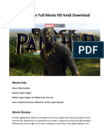 Black Panther Full Movie HD Hindi Download