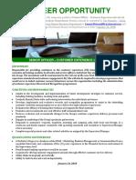 Expression of Interest Senior Officer - Customer Experience (Grade 6)