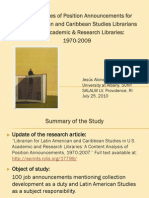 Four Decades of Position Announcements for Latin American and Caribbean Studies Librarians in U.S. Academic & Research Libraries