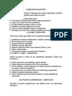 Ejercicios de Puntuacion Santo Anhel 2018docx