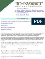 Using Lead-Acid Batteries