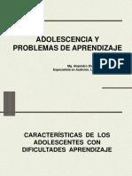 Adolescencia y Problemas de Aprendizaje