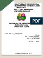 Genesis Manual de La Organización