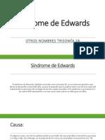 Sindrome de Edwars Diapositivas