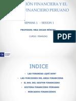 La Funcion Financiera y el Sistema Financiero Peruano