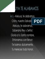 Aleluya Te Alabamos