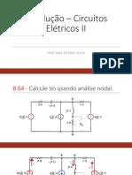 Resolução – Circuitos Elétricos II Thatiana
