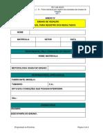 8.10 - Anexo J IV - Ficha Individual Para o Registro Dos Resultados Dos Ensaios de Vedação(Modelo)