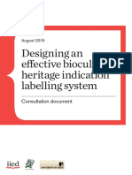 Consultation Document Designing an Effective Biocultural Heritage Indication Labelling System