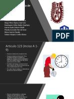 Articulo 123 Constitución Política de Los Estados Unidos Méxicanos